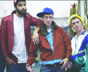 Andrew Trausch, Luke McConnell and Tyler Burson (left to right) pose together as part of the video. (Photo provided)